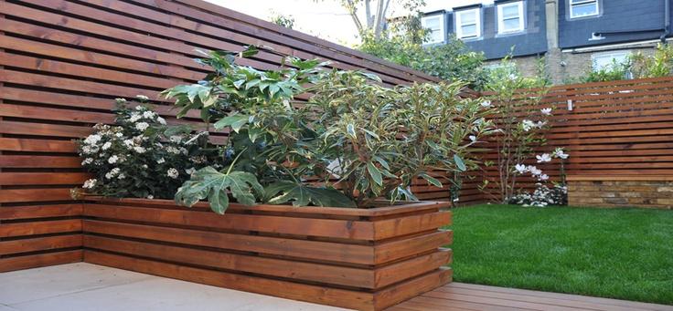 Horizontal Wood Slat Fence