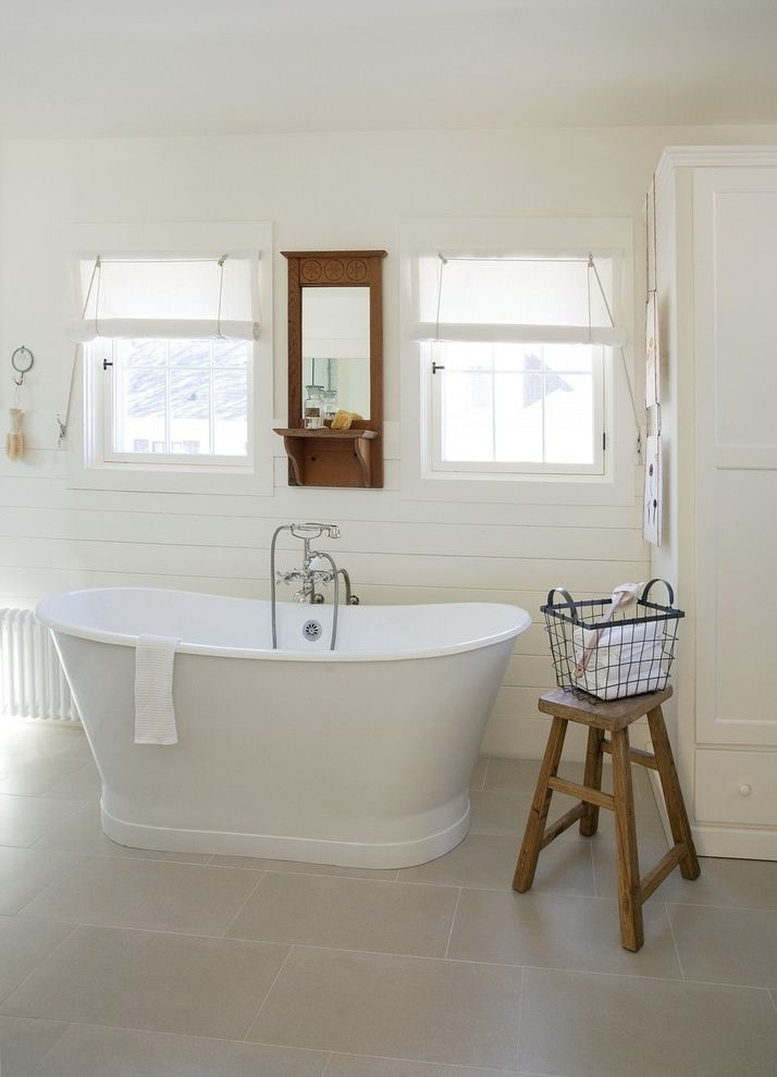 Chic bathroom in white Scandinavian style