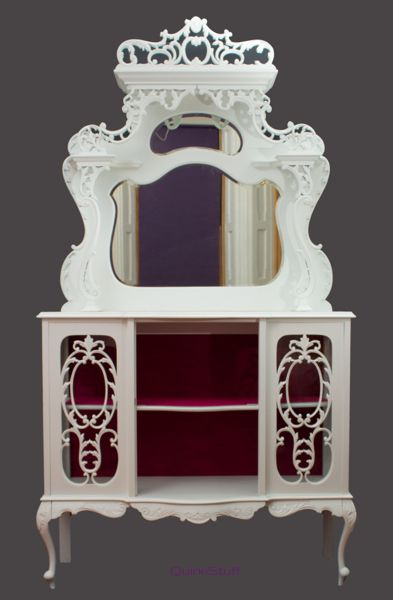 Rococo display cabinet by QuirkiStuff