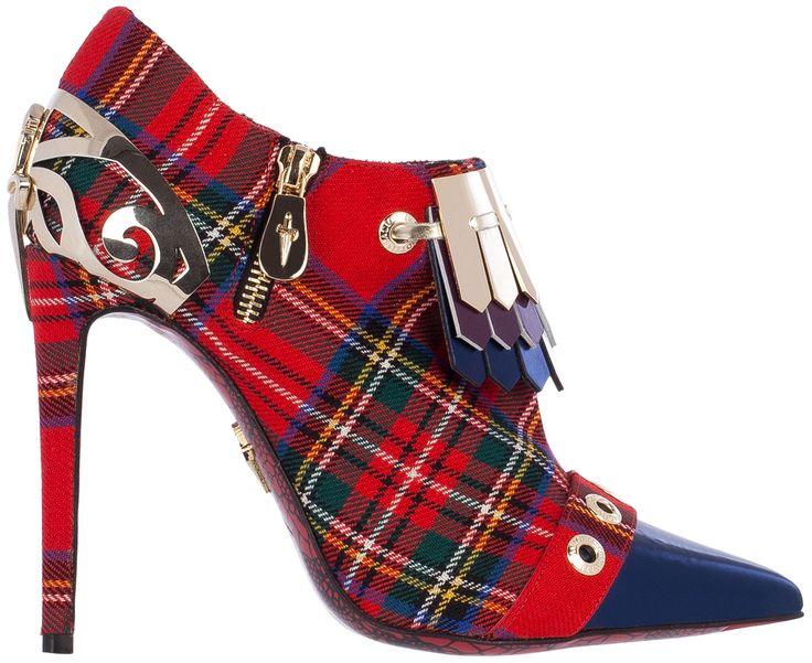Cesare Paciotti Tartan Ankle Boots Spring 2015