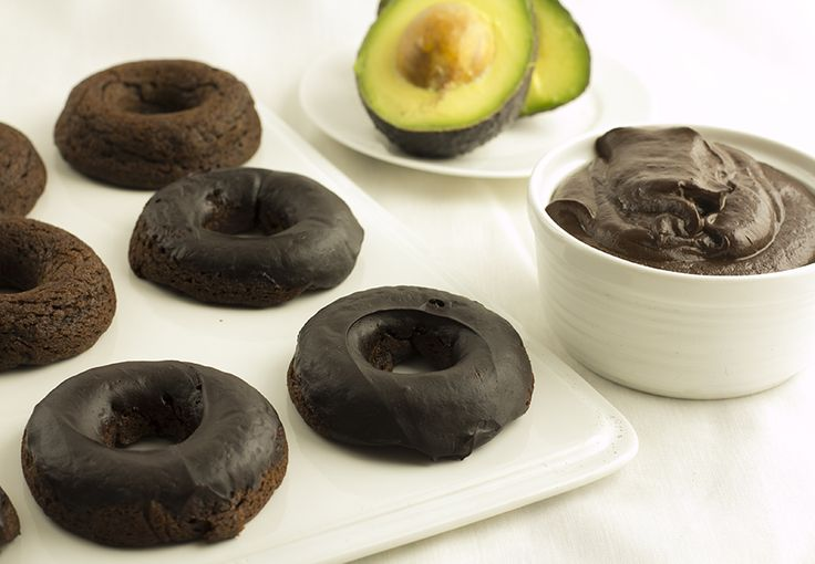 Gluten Free Chocolate Avocado Donuts with California Avocado Mocha Ganache