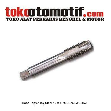 Kode : 130053 Nama : Hand Taps Alloy Steel Merk : BENZ  Tipe : 12.0x1.75 Status : Siap Berat Kirim : 1 kg