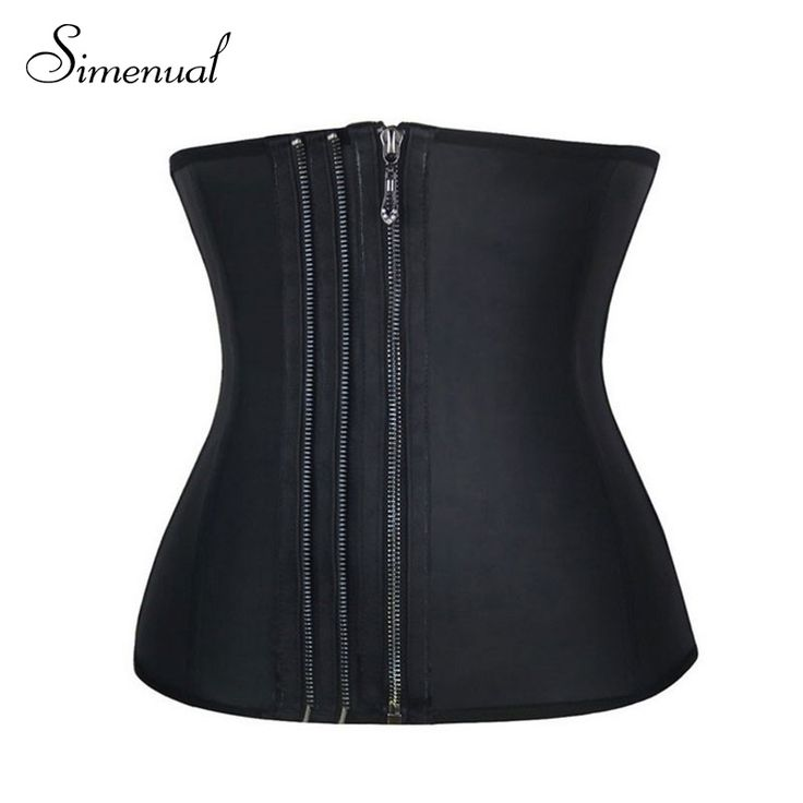 Plus size 6XL corsets and bustiers ladieswear 2016 new fitness women slim sexy corset hot sale solid black zipper body underwear