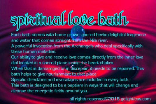 spiritual baths for love