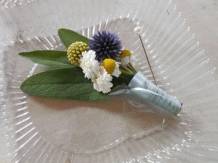 Lapel flowers.