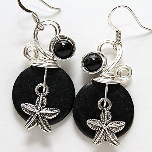 Starfish Earrings  Handmade Sea Star Ocean Themed Jewelry >>> You can get additional details at the image link.