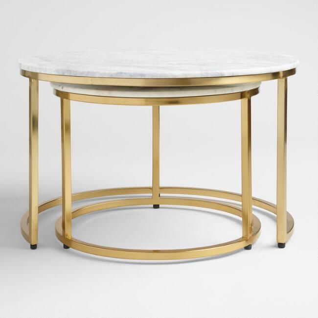 Marble Ayva Nesting Coffee Tables Set Of 2