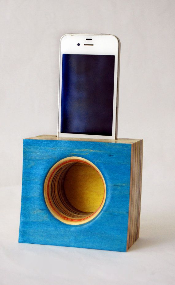 Upcycled iPhone speaker on Etsy!