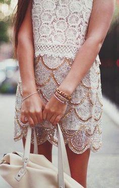 Scallops + lace.