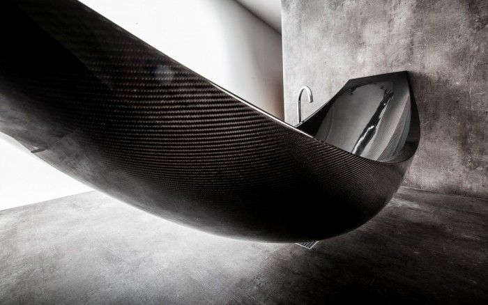 The Art Of Relaxation: A Hammock-shaped Carbon Fibre Bathtub By Splinter Works