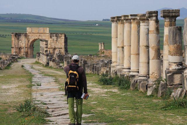 A antiga cidade de Volubilis, património mundial da Unesco, fundada por mercadores cartagineses no sec. III a.C., foi anexada pelos Romanos em 40 d.C.