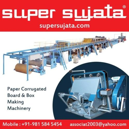 """Super Sujata Brand"" 3-5-7 Ply Paper Corrugated Board Making Plant Manufacturers & Exporters . http://www.supersujata.com/ .. #corrugated_box_making_machine #corrugation_plant_machinery #3_5_ply_corrugated_board #amritsar"