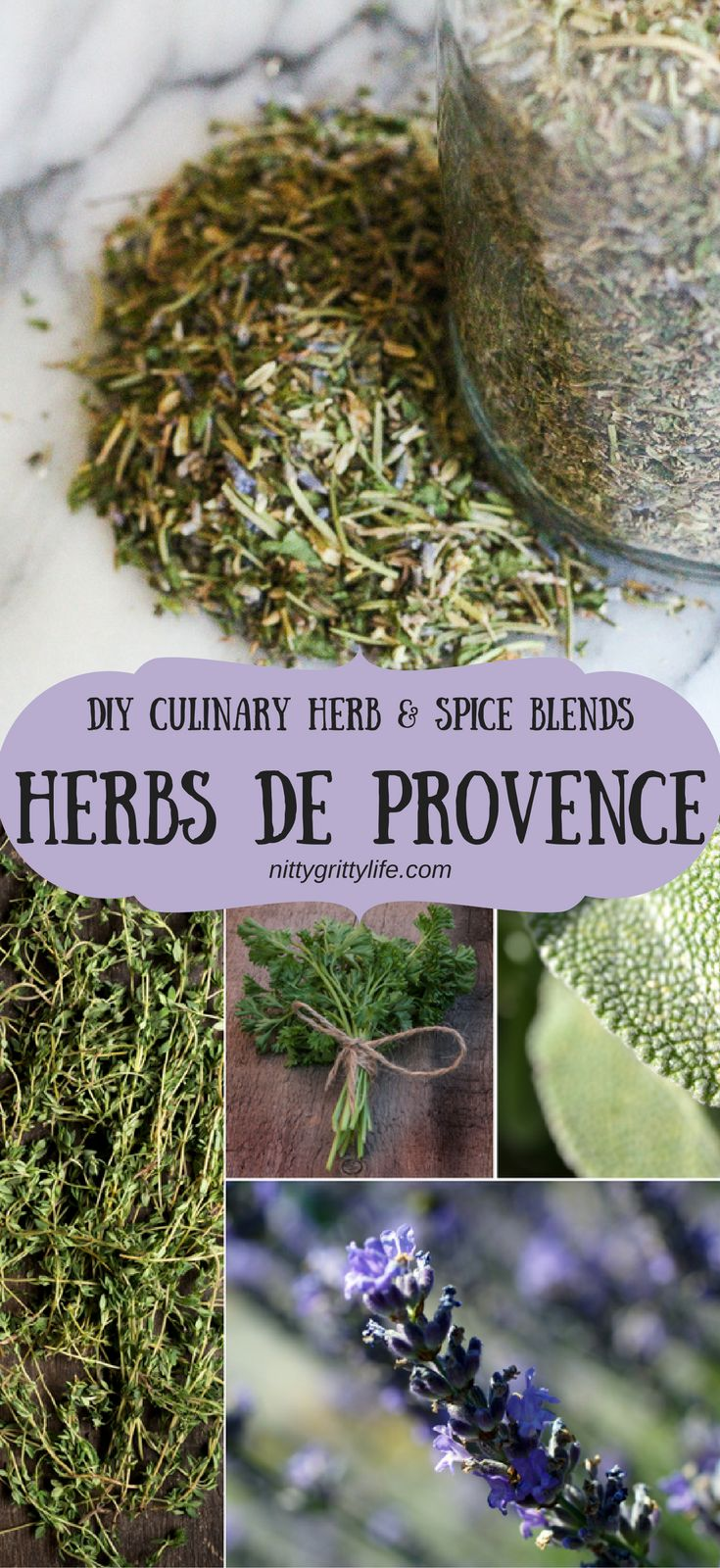 Herbs de Provence is a wonderful herbal blend that lends itself to a variety of dishes. This DIY blend will ensure that you've plenty for yourself & gifts! Use as needed for chicken, pork, egg and whatever other dishes call for its bright, savory flavor!