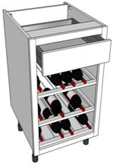 Modern bottle rack base unit http://www.diy-kitchens.com/kitchen-units/base/wine-rack/