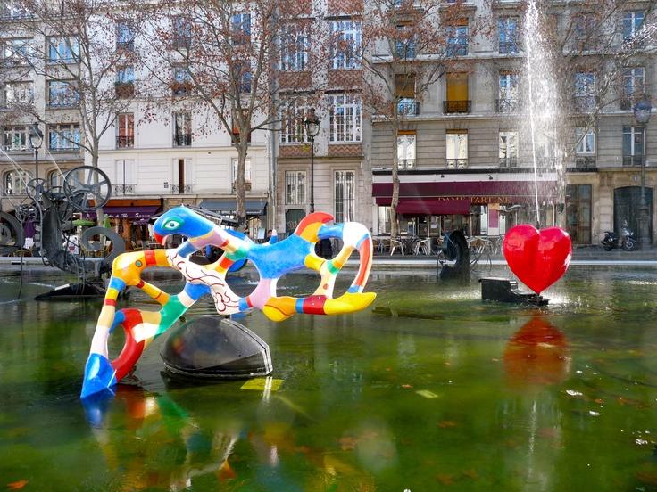 Niki de Saint Phalle & Jean Tinguely - Stravinsky Fountain, Paris