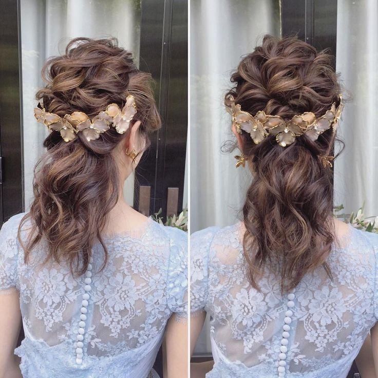 ゴールド系ヘッドドレスとスモーキーバイオレットのドレス❤ #weddinghair #weddingdress #violet #ウェディング #ヘアスタイル * ****************************** beautiful gold head dress⚜️ ****************************** * * #ブライダルヘア#ブライダルヘアメイク#ヘアアレンジ#ヘアセット#ヘアメイク#ヘアスタイル#波ウェーブ#ナチュラルウェディング#ウェディングヘア#ウェディングドレス#トリートドレッシング#ウェディング#ウェディングフォト#結婚#結婚式#結婚式準備#プレ花嫁#花嫁#卒花#卒花嫁#結婚準備#2016秋婚#日本中のプレ花嫁さんと繋がりたい #wedding#bridal#bridalhair#hairarrange#weddingstyle#weddingdress * #misacostyle
