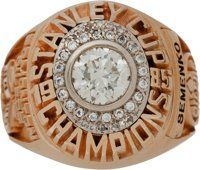 1985 Edmonton Oilers Stanley Cup Championship Ring Presented to Dave Semenko