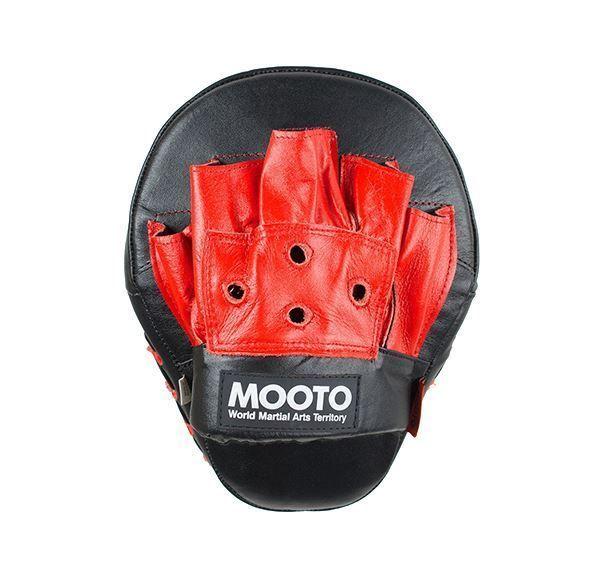 MOOTO Angle Mitt Black leather training MMA Boxing Kickboxing Gym TaeKwonDo #Unbranded