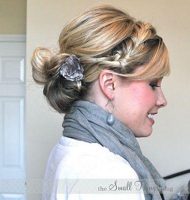 Cute hair styles: Hair Ideas, Small Things Blog, Hair Tutorials, Braided Buns, Hairstyles, Hairdos, Hair Styles, Makeup