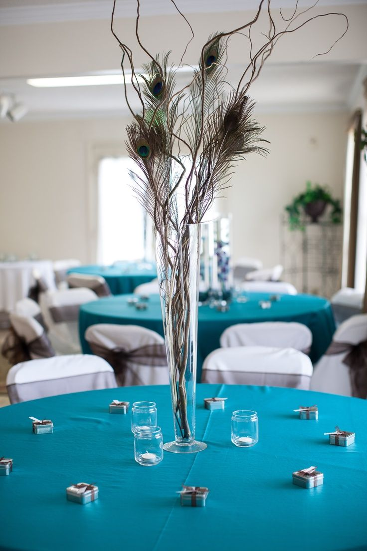 peacock centerpieces | Peacock centerpiece at our reception (Photo ... | Zap's Wedding Insp ...