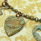 Patina Brass Charm Bracelet- get all of the supplies and a tutorial on how to make them , all in one place!     www.ornamentea.com/TheShop/TutorialPages/PatinaBrassHeartBracelet.html