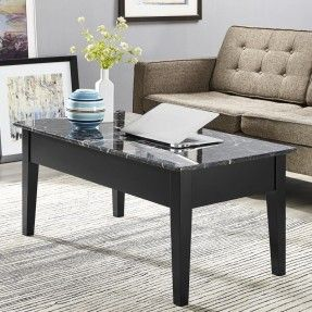 Attractive Though Simple Traditional Coffee Table With A Frame Made Of Wooden Materials Finished In Black