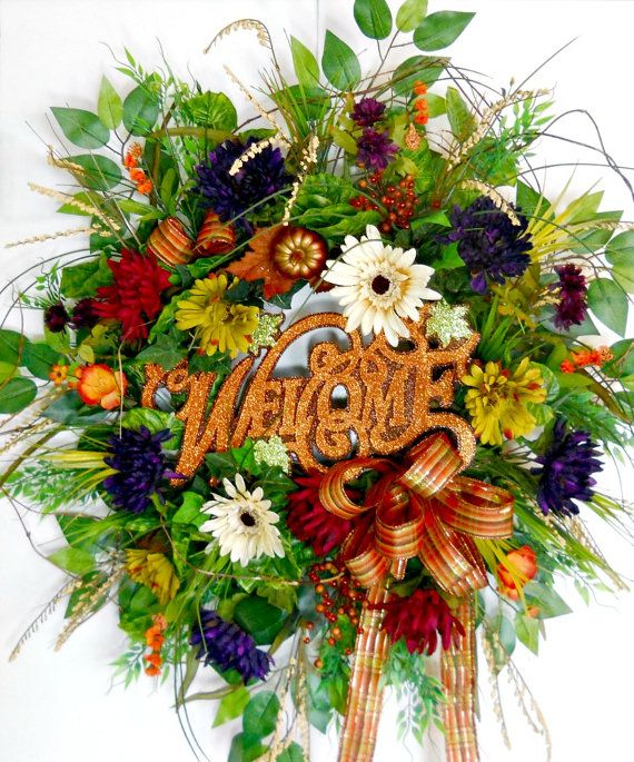 Fall wreaths for sale artificial autumn