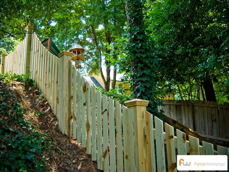 Picket Fence On Hill Google Search Wood Picket Fence