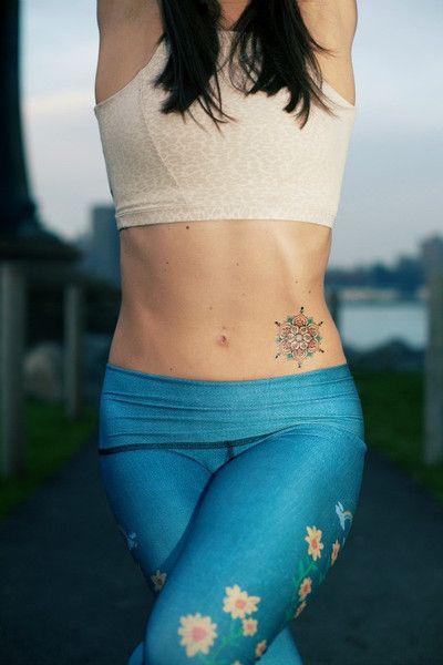 Blue Henna Mandala Temporary Tattoo - MyTaT
