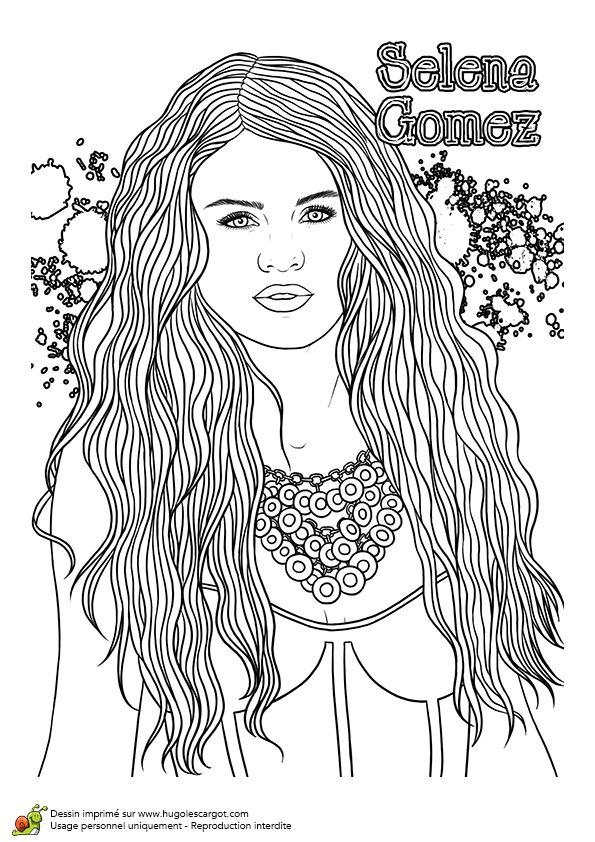 17 best images about dessins de stars on pinterest lady - Selena gomez dessin ...