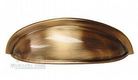 House of Knobs Fashionable Finishes Brushed Antique Copper Traditional Cup Pull - ( 99-237 )
