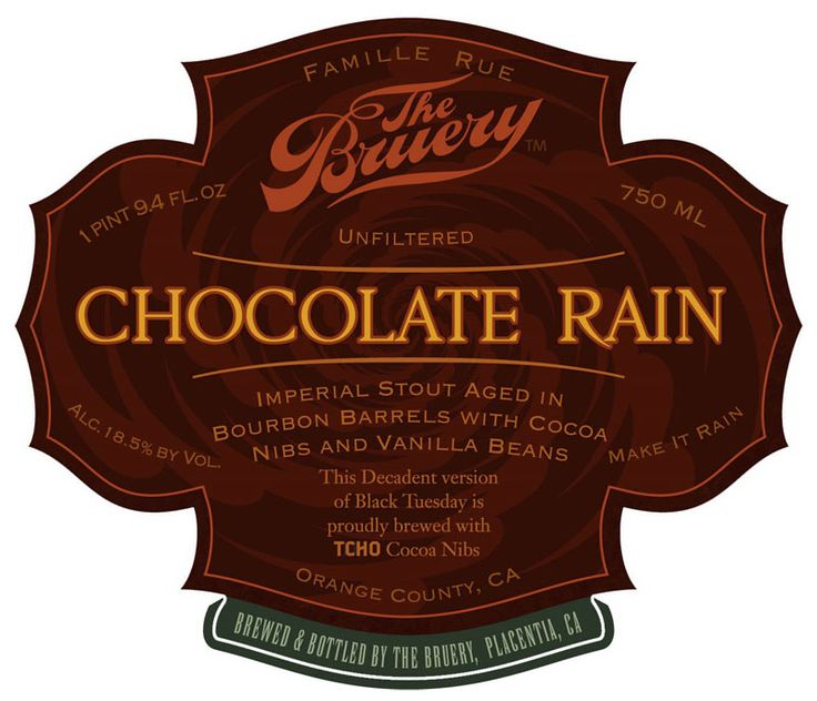 perfection in beer form. chocolate rain, the bruery.