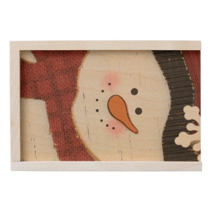 #Rustic snowman wooden keepsake box - #Xmas #ChristmasEve Christmas Eve #Christmas #merry #xmas #family #kids #gifts #holidays #Santa