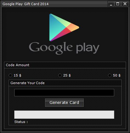 Google Play Gift Card Code Generator (2014)