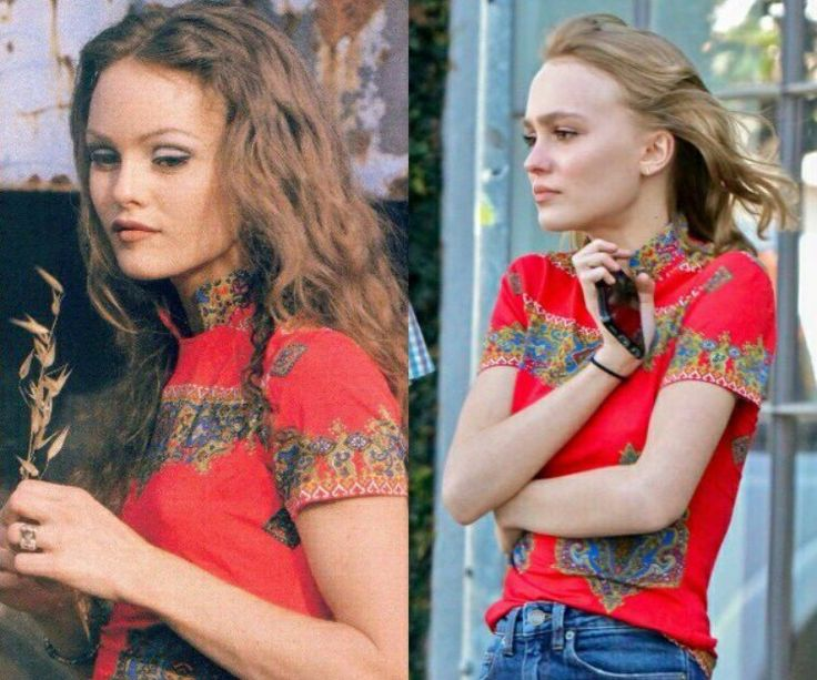 Vanessa Paradis and her daughter Lily-Rose Depp