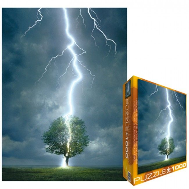 Eurographics 6000-4570 - Lightning Striking Tree - Jigsaw 1000 pieces Jigsaws Number of pieces 1.000 pieces