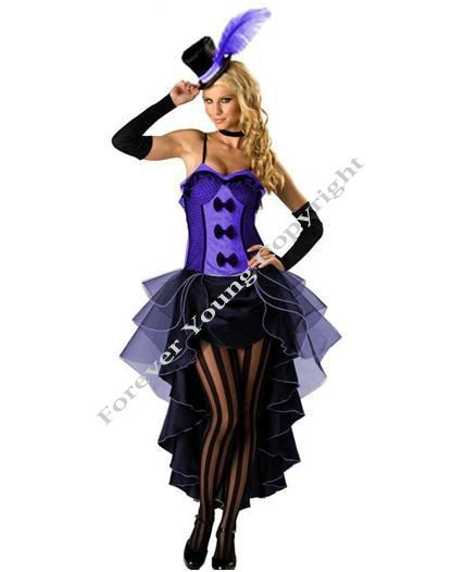 Burlesque Moulin Rouge Fancy Dress Costume Can Can Girl Dance Outfit Hat & Glove   eBay