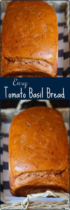 Easy Tomato Basil Bread | Imagine this bread with a vegetable pasta salad or as a pepperoni and cheese sandwich - toasted! Find recipe at redstaryeast.com.