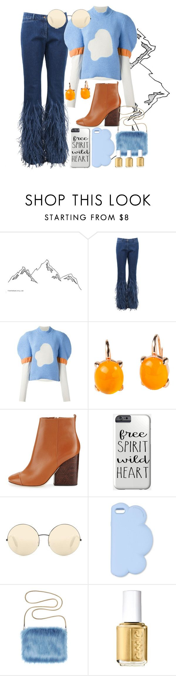 """""""Moutainians."""" by emiam ❤ liked on Polyvore featuring Michael Kors, J.W. Anderson, Rina Limor, Tory Burch, Victoria Beckham, STELLA McCARTNEY and Essie"""
