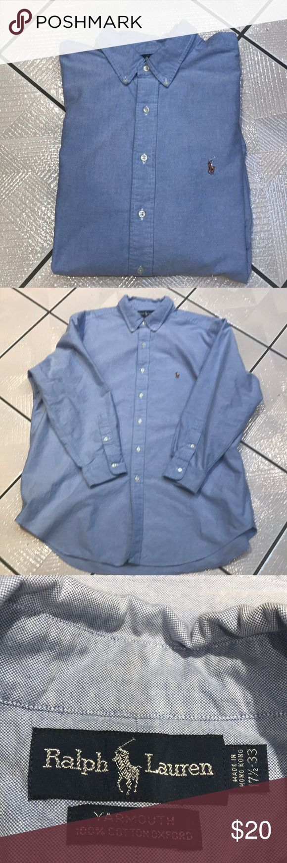 Men's Long sleeve Polo shirt! Light blue long sleeve shirt in excellent condition.  17-1/2/33 Shirts
