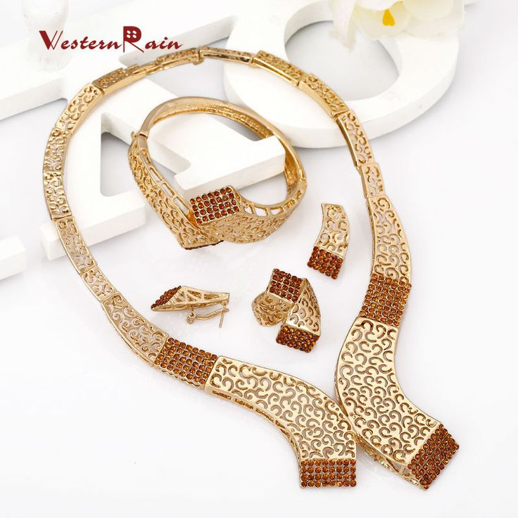 Find More Jewelry Sets Information about WesternRain 2016 Free Shipping Big Brown Rhinestone Charm Necklace Earrings Women Beauty  Gold Plated African Jewelry Sets  A336,High Quality jewelry magnet,China jewelri Suppliers, Cheap jewelry rhinestone from Shop717437 Store on Aliexpress.com