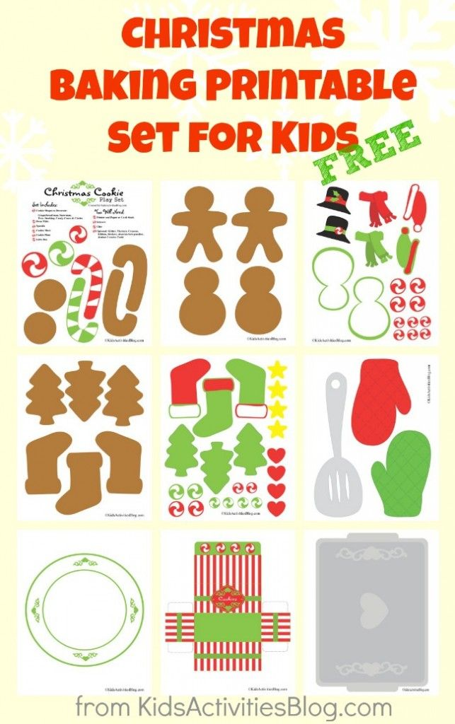Check out these cute and free Christmas Baking Printables from Kids Activities Blog.