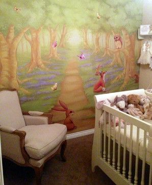 Woodland Mural. Nursery Wall ... Part 28