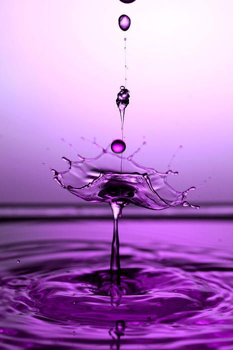 Crystal Cup Water Droplets Collision Liquid Art #HelloPurple