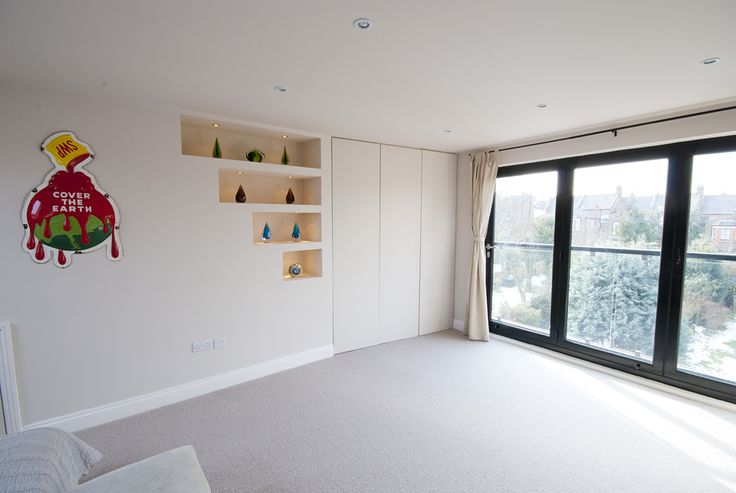 loft conversion with built in shelves NW london