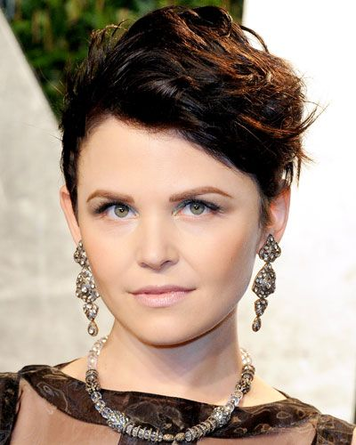 Short, spikey haircuts are a great look for the Gamine Girls like Ginnifer Goodwin