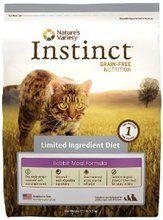 Nature's Variety Instinct Limited Ingredient Grain Free Rabbit Dry Cat Food 5.5Lb