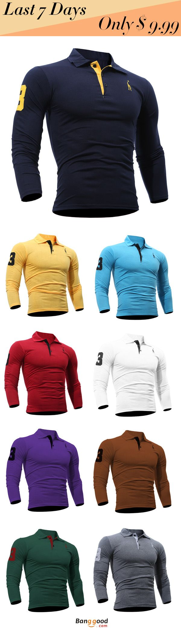 US$13.93 + Free Shipping. Fashion T-shirt, Embroidered T-shirt, Men's T-shirt, Casual T-shirt, Solid Color T-shirt, Slim Fit T-shirt, Long Sleeved T-shirt. 10 Colors to Pick. >>> To View Further, Visit Now.