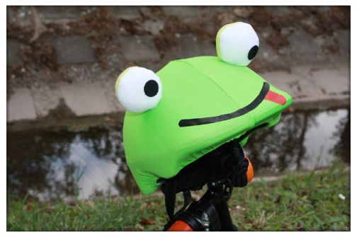 Frog helmet cover