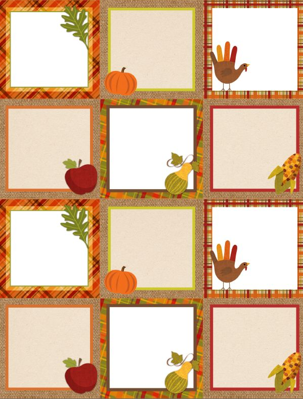 Free Printable Autumn/Thanksgiving Labels (675-labels-blank / World Label Blog)